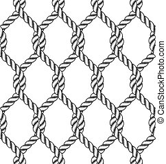 corda, modello, seamless, nodo