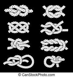 corda, nó, ícones