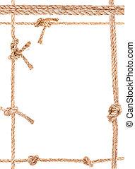 corda, nó, quadro
