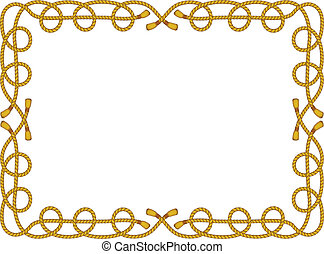 corda, quadro, isolado, branco