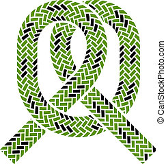 corda, rampicante, simbolo, vettore, nodo