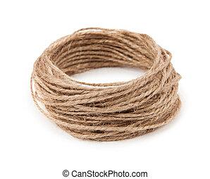 corda, sfondo bianco