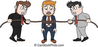 corda, trappola, uomo affari