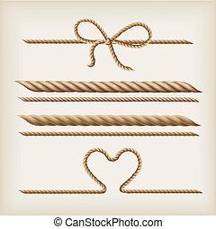 cordas, e, arco