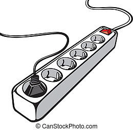corde, électrique, extension