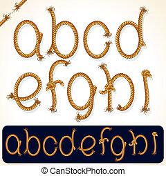 corde, alphabet, 1