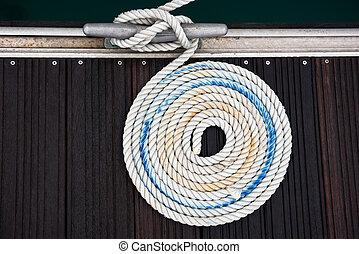 corde, amarrage, nautique