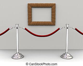 corde, barrière