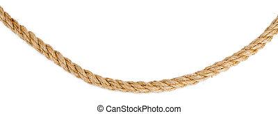 corde, bateau, blanc, isolé, fond