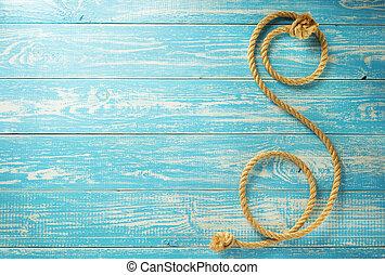 corde, bateau, bois