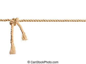 corde, blanc, noeud, fond