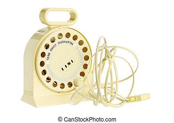 corde, bobine, téléphone