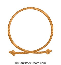 corde, boucle, frame., cercle, sites