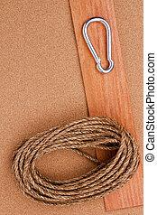 corde, carabiner