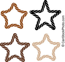 corde, ensemble, étoile