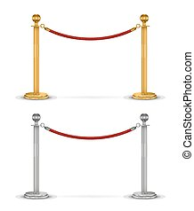 corde, fond blanc, isolé, barrière