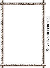 corde, fond, fait, cadre, blanc