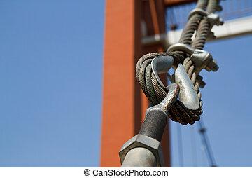 corde métallique, bridges.