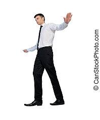 corde, marche, imaginaire, homme affaires