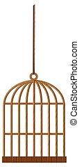 corde, mettez cage oiseau