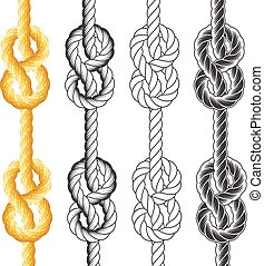 corde, nœuds, boucles
