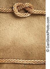 corde, papier fait main, frontière