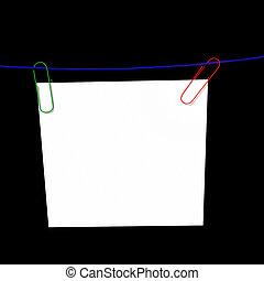 corde, papier