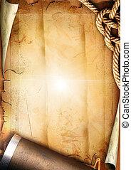 corde, papier, vieux, texture