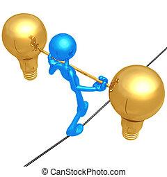 corde raide, idées