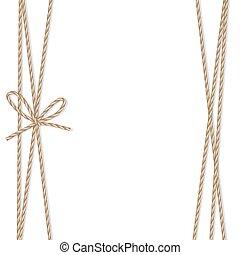corde, rubans, fond, arc