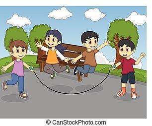 corde sauter enfants jouer coliers dessin anim corde clipart vectoriel rechercher. Black Bedroom Furniture Sets. Home Design Ideas
