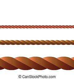 corde, vecteur