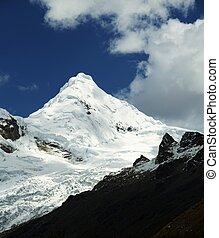 Cordillera mountain - Snow peak in the Cordillera Blanca