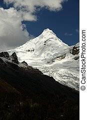 Cordillera mountain - Snow peak in the Cordillera Blanca