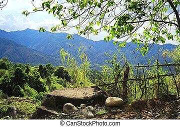 Old broken fence in Cordillera Mountains, Philippines