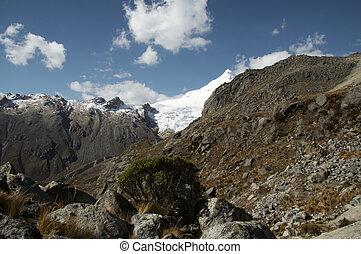 Cordilleras mountain_1 - Rock and high snow mountain in...