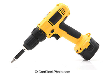 Cordless Drill Isolated On White Background