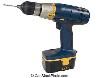 Isolated shot of a cordless drill