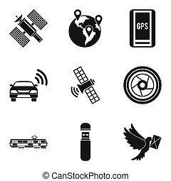 Cordless icons set, simple style