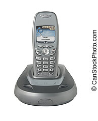 Cordless Phone - Digital cordless dect phone isolated on...