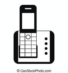 Cordless phone icon, simple style