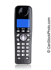 Cordless phone isolated on white background