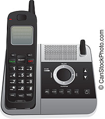 cordless phone isolated over white background. vector