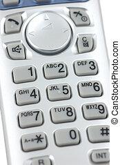 Cordless phone keypad - Close up of a cordless phone keypad