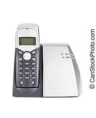 Cordless phone set on white background