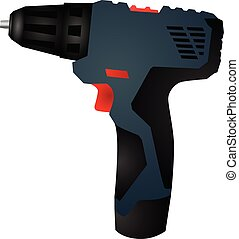 cordless screwdriver vector eps 10