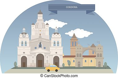 Cordoba, Argentina. Capital of Cordoba Province and the second-largest city in Argentina