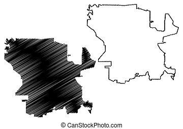 Cordoba City (Argentine Republic, Cordoba Province) map vector illustration, scribble sketch map