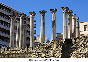 Cordoba Roman temple - Ruins of the Roman Temple in Cordoba...