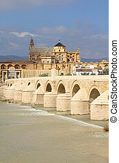 Cordoba, Spain. Cityscape with the Great Mosque (currently ...